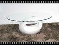 mesa de café de fibra de vidrio en forma de anillo