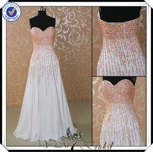 pp0133 de gasa con cuentas de cumpleaños para adultos blanco vestido de fiesta para los adultos
