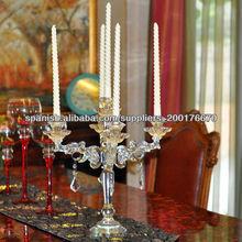 centro de candelabros de cristal,cristal colgando titular de vela candelabros MH-1508