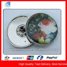 YX5577 Venta al por mayor de grandes botones impresos perlados y metálicos para abrigos de piel