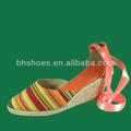 bhs09545 sandalias de las señoras alpargatasparte de yute