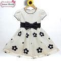 bordado a mano diseños para el vestido de princesa americana de flores niña vestidos de azul y blanco vestido de novia