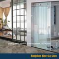 hz 10mm 12mm fosco frameless porta sanfonada de vidro