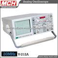 MCH alta precisión, osciloscopio analógico, 20MHz hasta 100MHz, la serie V-212, de doble canal, 20MHz, función de cálculo de fre