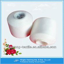 Blanco crudo de alta tenacidad de poliéster de hilados de filamentos& hilo del bordado hilo poliéster 100%