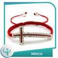 [TTT Jóias] 2014 moda de lado por atacado grandes pingentes bijuterias miçangas cruz para pulseiras