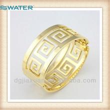 De alta- grado de oro hueco pulsera, pulsera grande para las mujeres