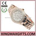 Alibaba exprimer haut zinc bracelet montre-bracelet avec de grandes dames de cadran des montres fantaisie