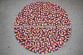 Handmade Felt Ball Carpet , Felt Carpet/rug from Nepal