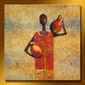 moderno desnuda mujer africana de la pintura