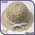 2014 sombrero de paja de rafia sombreros de verano para niños