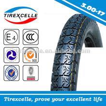 China 3.00-17 llanta de la motocicleta de neumáticos