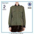 oscuro del ejército verde a prueba de viento ropa casual para la imagen de las mujeres