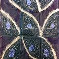 georgette tecido de lantejoulas e miçangas e bordados à mão pendurada na parede