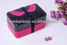 fabricante profesional de lindo de dibujos animados de plástico caja bento