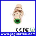 qualidade adequada para rca adaptador coaxial conector fêmea