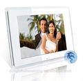 digital photo album mp3/mp4 tarjeta sd 12 blanco pulgadas lcd marco de fotos digital de visualización deimagen 12 pulgadas