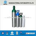 tped punto de aluminio cilindros de gas de oxígeno para respirar del cilindro de gas