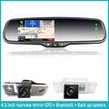 Navegación GPS coche espejo retrovisor 4.3inch con Backup Camera display y Touch Screen