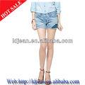 Turquía 2014 sexuales de diseño para mujer pantalones vaqueros cortos pantalones vaqueros de mezclilla( ldb20)
