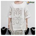 blusas& tapas tipo de producto blusa nuevos huecos a cabo nueva moda de manga corta blusa de encaje blusa de señora