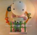 hermoso oso de dibujos animados de juguete de los niños de la tela de la pared luces de lujo