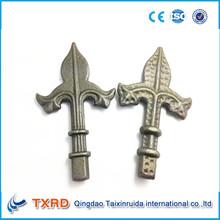 precio competitivo puerta de hierro forjado punta de lanza