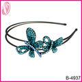 2014 la venta caliente de color diadema mariposa del rhinestone para niñas