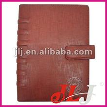 A6 de cuero de la pu cuaderno espiral/organizador con carpetas de anillas