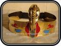 Cleopatra oro trajes Crown-egipcias para Halloween
