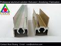 perfil perfil de aluminio anodizado cepillado amarillo extrusión de aluminio