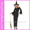 venta al por mayor negro sexy bruja de halloween simple traje de cosplay