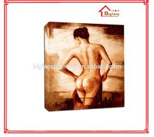Decorativa desnudo de la mujer de pintura al óleo, sexy mujer desnuda la pintura del cuerpo para decoración de hogar