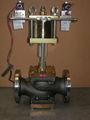 Eletro pneumática polimat válvula de controle- dn4- ansi 150rf ped certificado