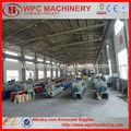 Cadena de producción plástica de madera WPC