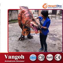 VDG750 traje de dinosaurio mecánico para adultos animales de fibra de vidrio para la venta traje de dinosaurio