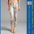 2013 venta por mayor dama color barato impresa vaqueros (JXC29828)
