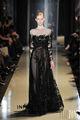 prom vestido tule appliqued rendas com contas lantejoulas preto elie saab manga comprida vestido de noite