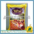 personalizado 25kg tejido pp de plástico bolsa de embalaje para el arroz