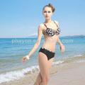 Completo con estilo impreso top bikini, buena forma las mujeres bikini ropa de playa