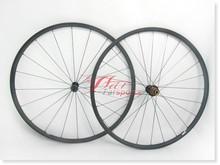 Ultraligero de ancho 23mm 20mm carretera bicicleta de carreras de ruedas de carbono tubular, sólo 950g/par