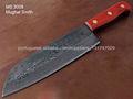 Damasco Handmade Chef faca com cabo de madeira