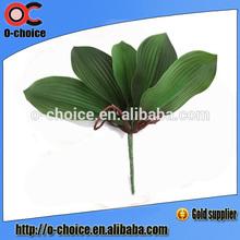 Atacado orquídea artificial folha, artificial folha verde para a venda