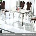 Diseños modernos de metal imágenes de mesa de comedor silla 817#