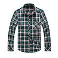 El hombre casual ropa de verificación, la camisa del hombre fabricante en hebei