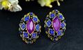 Últimas aretes de diseño de joyas de cristal