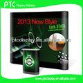 2013 nuevo estilo único magnética pop up display con control deslizante de colores