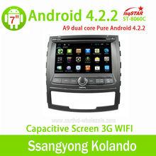 Android 4.2.2 car dvd del coche con gps para ssangyong korando