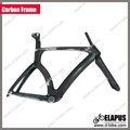Juicio frameset/100% cuadro de la bicicleta de carbono a tiempo completo de carbono TT