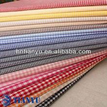 de algodón 100 llano teñido de tela cambray para uniformes